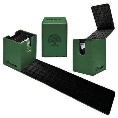 Green mana symbol Alcove Forest Ultra Pro flip box card box case for MTG cards