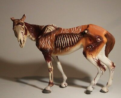 Lazarus Resin Model Horse - Quagga Zombie - One of a Kind Artist Painted