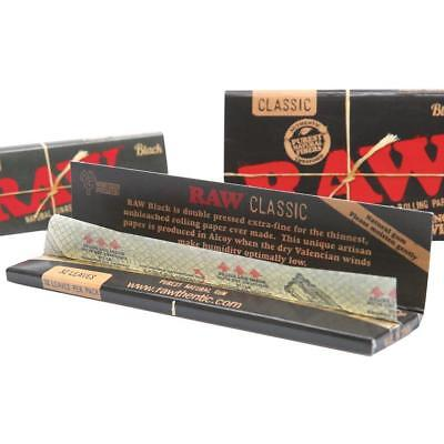 RAW Black Rolling Papers | RAW BLACK Classic King Size Slim Classic | RYO