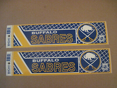Lot Of (2) Vintage Buffalo Sabres 1990's Wincraft Bumper Stickers