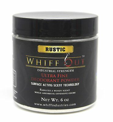 Whiff Out 6 oz.  Ultra Fine Crystalline Ashtray Deodorizer RUSTIC SCENTED