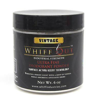 Whiff Out 6 oz.  Ultra Fine Crystalline Ashtray Deodorizer VINTAGE SCENTED.