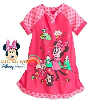 Disney Store Minnie Mouse Candy Colored NightGown Nightshirt PJ's Girls  9/10