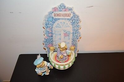 Cherished Teddies Romeo And Juliet Balcony Collector's  Set