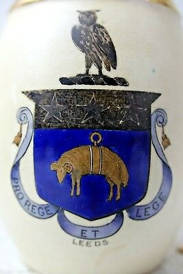 Very Old Macintyre Burslem Jug With Leeds Coat Of Arms - Very Rare - L@@k