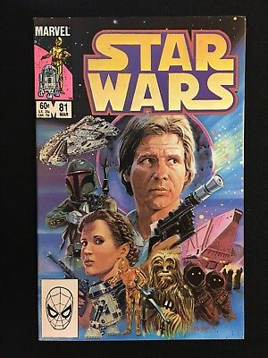 Star Wars #81 Marvel 1984 Return Of Boba Fett Nice Grade Han Solo Darth Vader