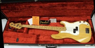 Fender American Standard 1997 Precision Electric Bass Guitar Natural Finish
