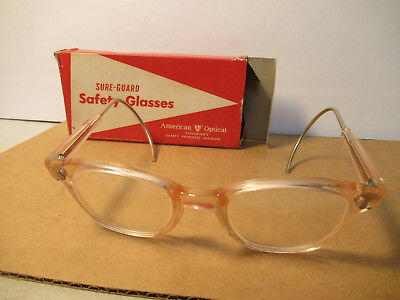 American Optical Vintage Safety Glasses AO Sure Guard With Original Box