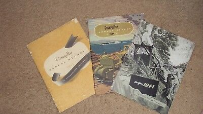 Caterpillar Tractor Company Inc. old annual reports from 1943 and 1944
