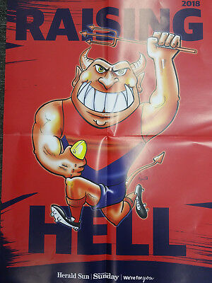 2018 Melbourne Demons Raising Hell A2 AFL Glossy Poster (Herald Sun)