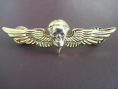 Parachute Skull Jump Wing Badge Pin Airborne Insignia USMC Recon Military