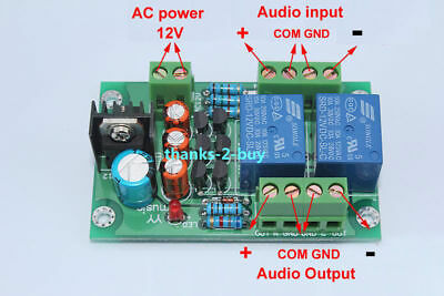 Stereo Loud Speaker Protection Board 10A Two-Channel 3S Delay Soft Start Circuit