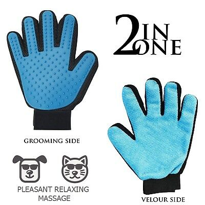 1X 2X Pet Grooming Gloves - Right - Enhanced Five Finger Design - for Cats, Dogs