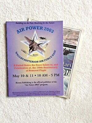 2003 DAYTON AIR SHOW - 2  Souvenir Booklets - New condition