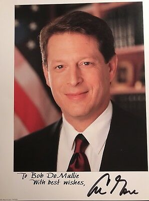8x10 Autographed Picture of Vice President, Al Gore