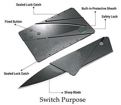Multi-function Pocket Credit Card Fold Survival Knife Outdoor Camping Tools 1pc