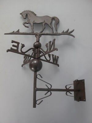 Weather Vane Horse Wall Mount Brown Weathercock Stud Wind Vane