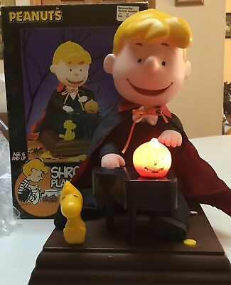 Peanuts  Shroeder Playing The Piano Musical Animated Halloween Figure