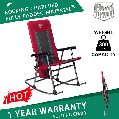 Timber Ridge Rocking Rocker Chair Garden Patio Lawn Outdoor Seat Support 300 lbs