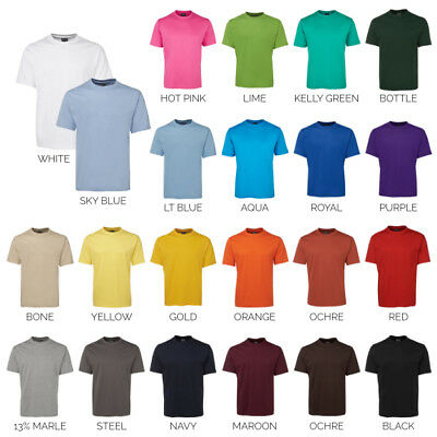 Plain Blank Tee 100% Cotton T-SHIRT 1HT | Mens | Sizes 2XS up to 9XL