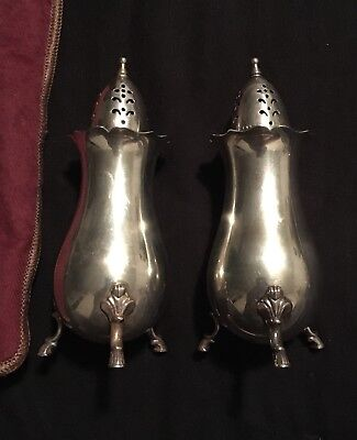 Pair Of Sterling Wallace Grand Colonial Salt And Pepper Shakers