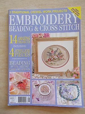 Embroidery Beading & Cross Stitch Vol 12 #11~Bag~Bear~Hardanger~Bridal Hatbox