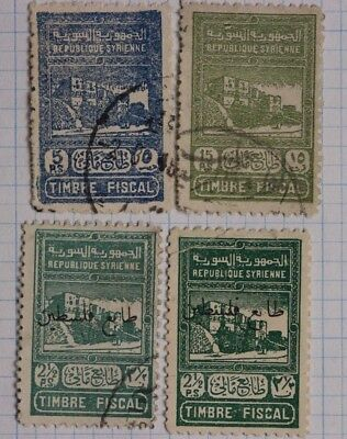 Syria Revenue timbre fiscal tax stamp lot DL