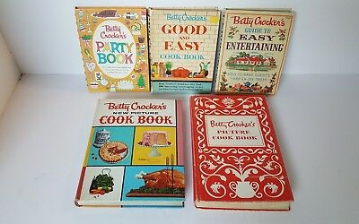 Vintage Betty Crocker New  Picture Cookbook, With Others.