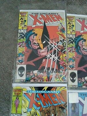Uncanny X-Men #211,211, 212,213,268 Signed Stan Lee, 350 Gambit (All Near Nm-Vf)
