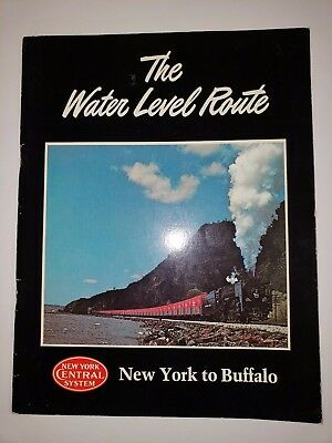 """New York Central System: """"The Water Level Route New York To Buffalo"""""""