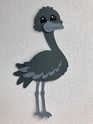 Emu - fully assembled die cut / paper piecing