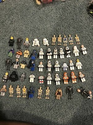 Huge LEGO Star Wars Minifigures Collection Lot of 50 Mini Figs + Accessories