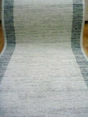 Clearance Ready to go Hall Runners Plain Modern Design Grey Cream Emphasis