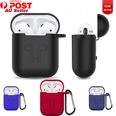 Strap Holder / Silicone Protective Skin Case Cover For Apple AirPods Earphones