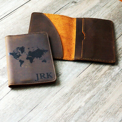 Personalized Genuine Leather Passport Cover ; Custom Printed Passport Holder a
