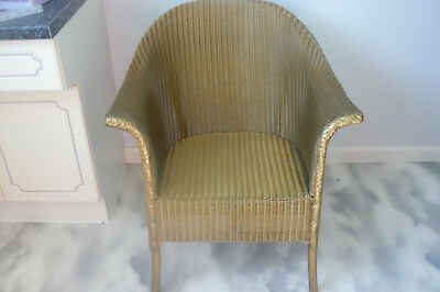 Gold Lloyd Loom Armchair