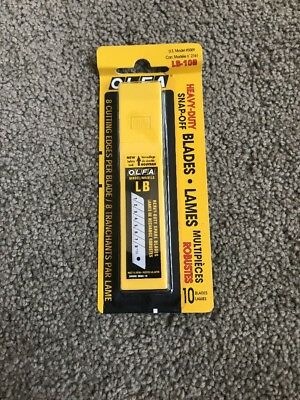 OLFA Heavy-Duty Snap-Off 10 Pack Blades US Model #5009 LB-10B