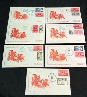 USA - 7x FIRST DAY COVERS - 100th Anniversary CHICAGO & PESHTIGO FIRES