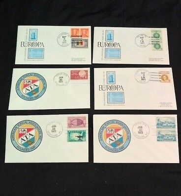 USA - 6x FIRST DAY COVERS - American Topical Association Inc. & Europa