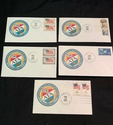 USA - 5x FIRST DAY COVERS - American Topical Association Inc. Founded in 1949