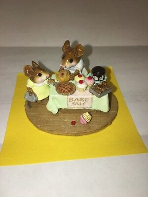 Wee Forest Folk M-220 Mousey's Bake Sale - Green - RETIRED
