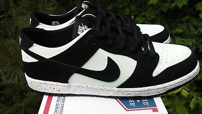 size 40 93713 e247c NIKE SB ZOOM Dunk Low Pro Blk/Barely Green/Wh Men's Sz 11.5 New 854866 003  Nolid