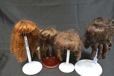 Lot of Mostly Human Hair Doll Wigs