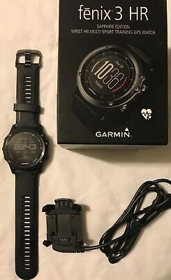 Garmin Fenix 3 HR Sapphire Heart Rate Monitor GPS Fitness Watch 010-01338-70
