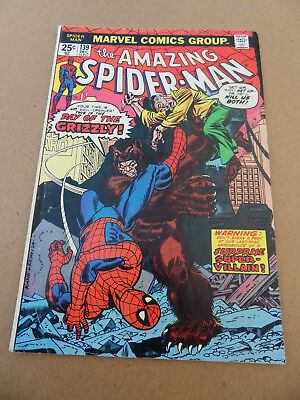 Amazing Spider-Man 139 . 1st App . Grizzly . Marvel . 1974 . FN +