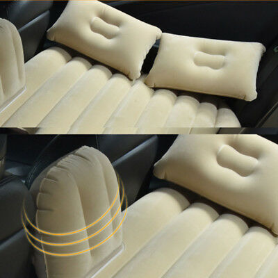 Ergonomic Car Travel Inflatable Mattress Air Bed Cushion Camping SUV Extended DE