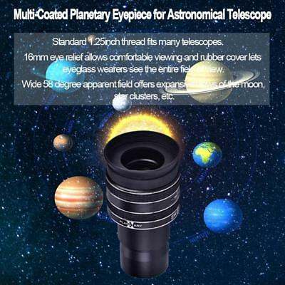 1.25inch 58-Degree 6mm Multi-Coated Planetary Eyepiece for Astronomical Telescop