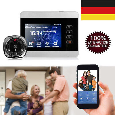 4' Ihome 5 Smart Android WiFi Video Infrared Night Version Peephole Viewer DE