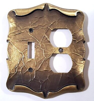 Amerock Carriage House Switch Plate Outlet Cover Combo Antique Brass New Nos