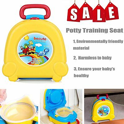 Kids Toilet Seat Baby Child Toddler Training Potty Portable Car Travel Seat Pink